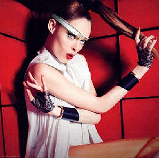 Coco was among the first to model Google Glass, and naturally had some style suggestions for the brand. Source: Instagram user cocorocha