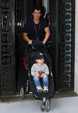 Orlando Bloom took his son, Flynn Boom, for a walk in NYC.