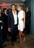 Taylor Swift caught up with her pal Brenton Thwaites at TIFF.
