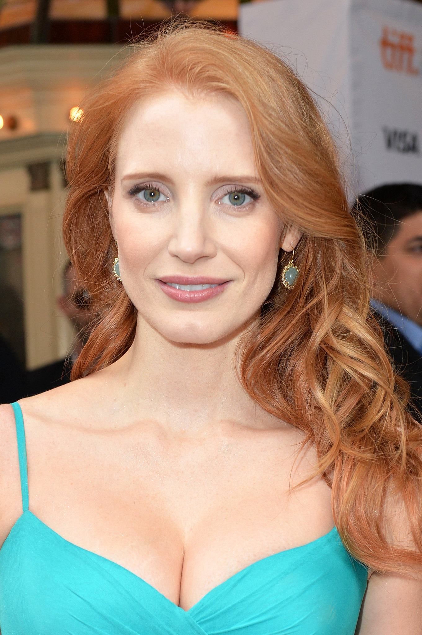 Jessica Chastain went with her signature waves at the premiere of The Disappearance Of Eleanor Rigby: Him And Her.