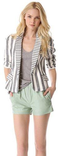 Milly Stripe Skinny Jacket