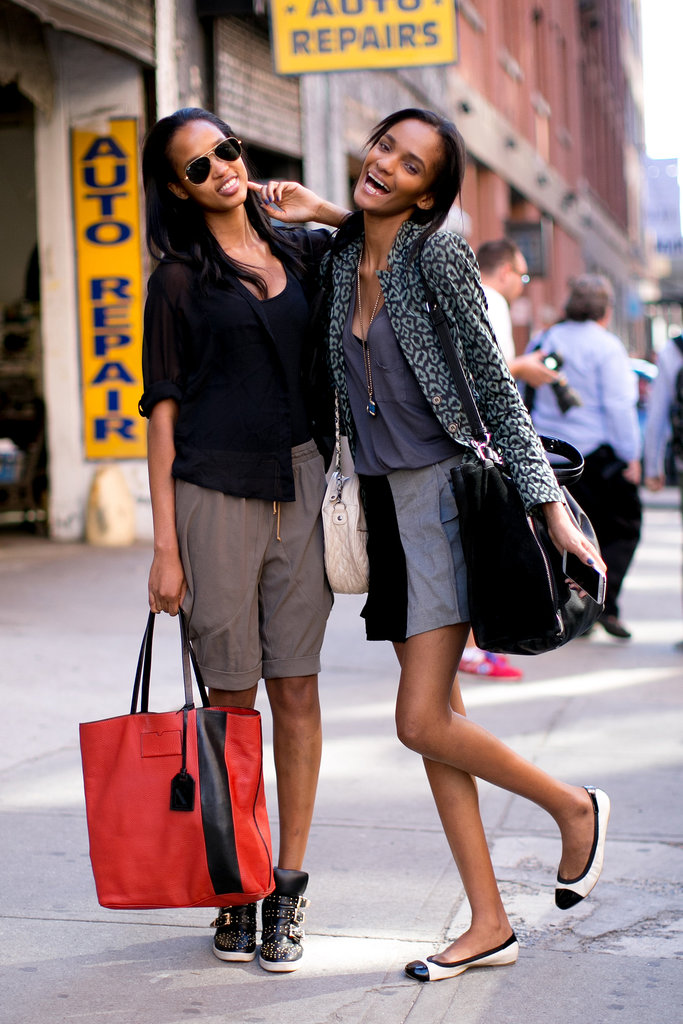 Breezy shorts and easy footwear for this duo.