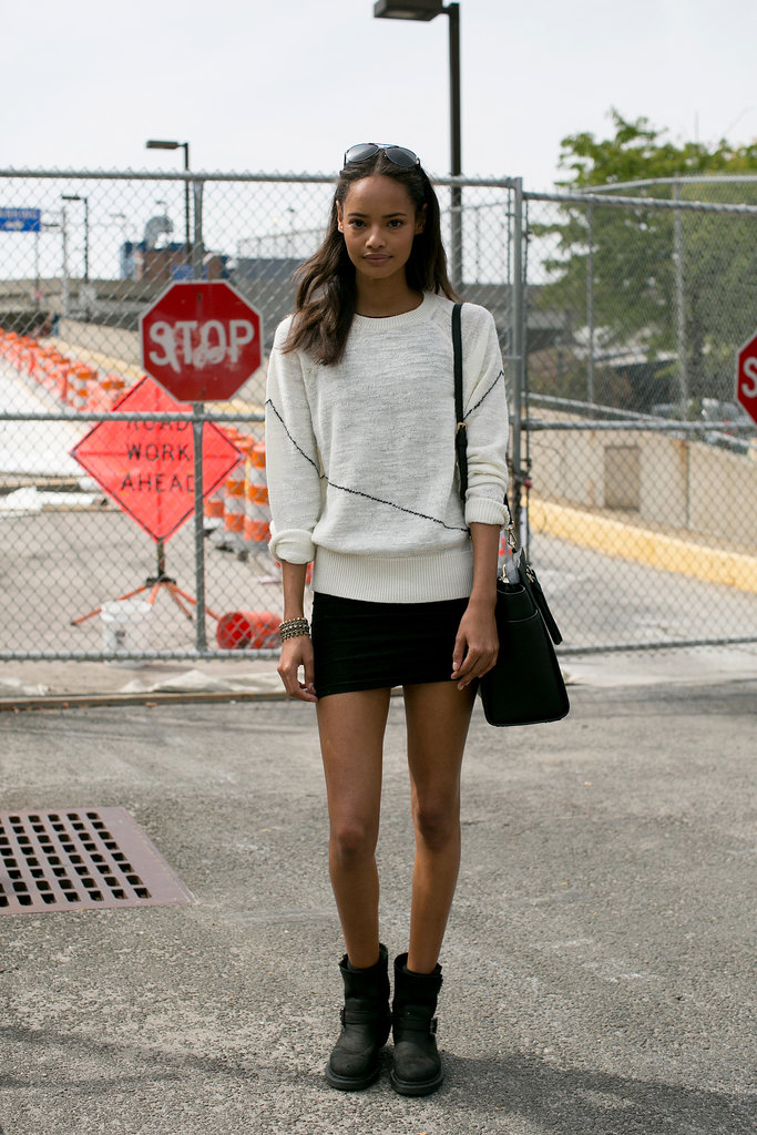 Miniskirts and models — a match made in styling heaven.