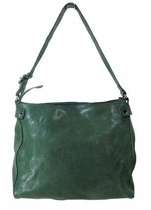 excellent (EX) Mauro Governa Deep Green Leather Bag