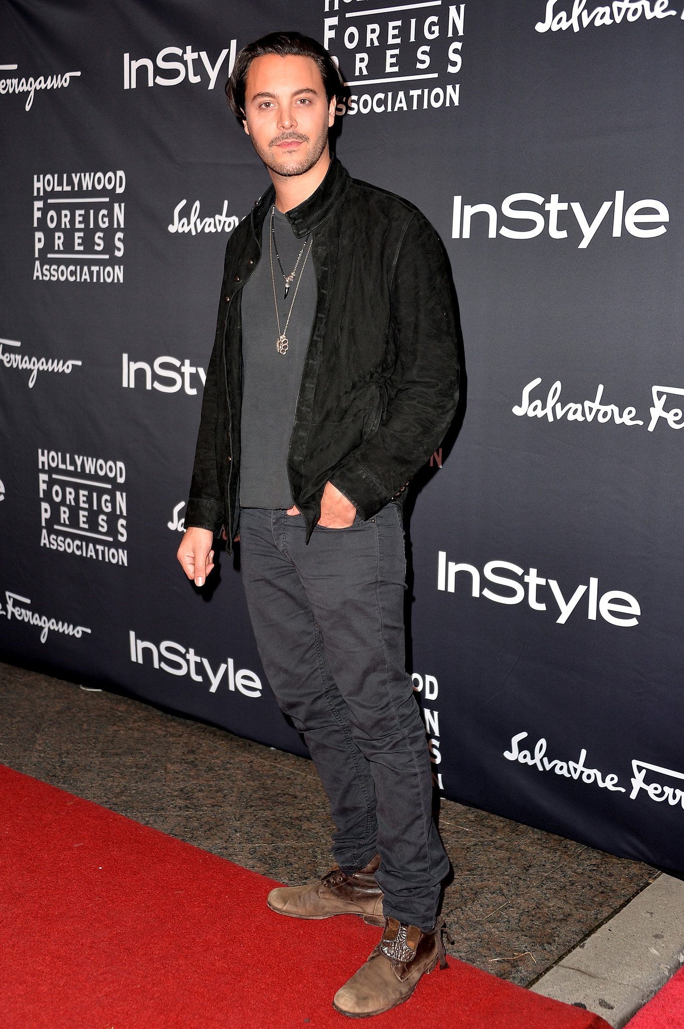 Jack Huston attended the HFPA/InStyle party.