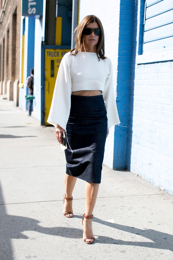 Even Carine Roitfeld bared her midriff.