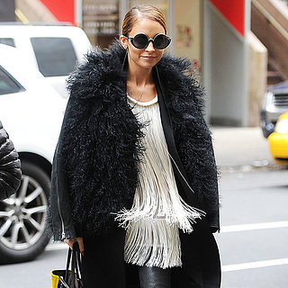 Nicole Richie Wearing Leather Jacket