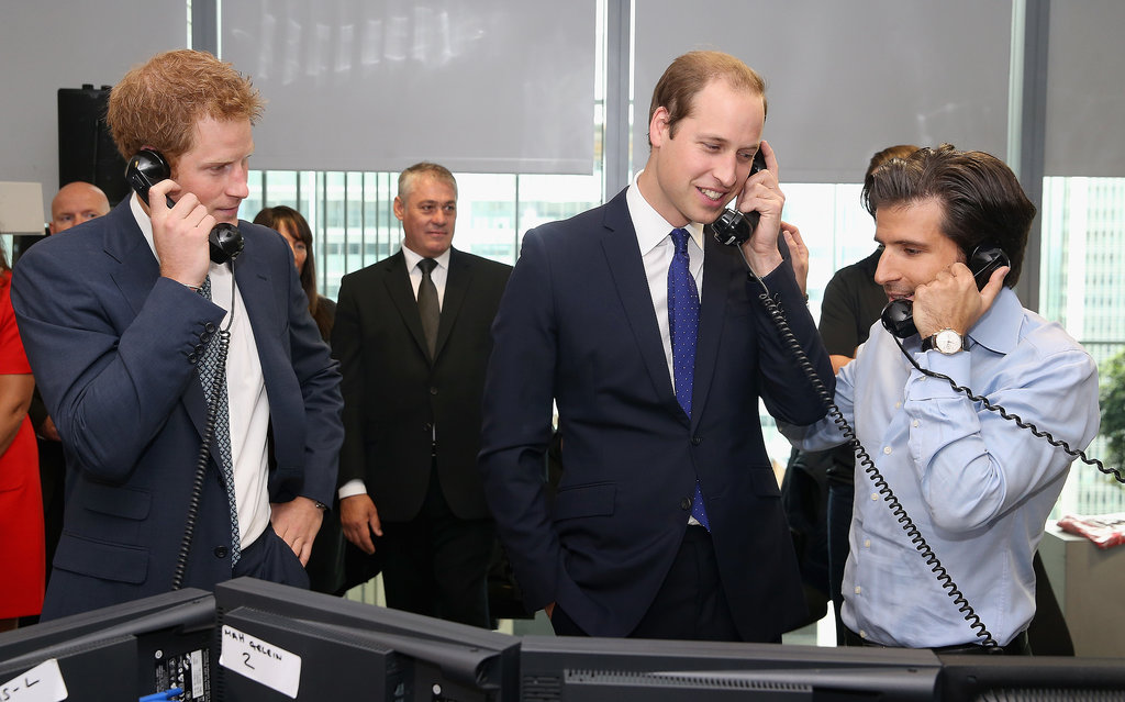 Prince William and Prince Harry traded stocks for BGC Partners Charity Day.