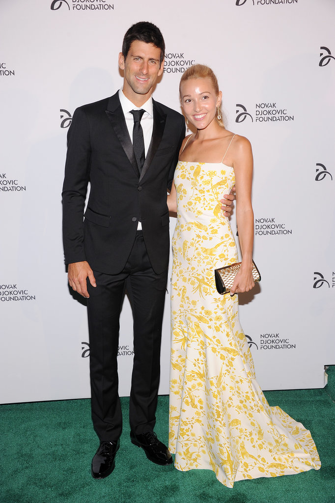 Novak Djokovic had his girlfriend, Jelena Ristic, by his side for the Novak Djokovic Foundation dinner in NYC.