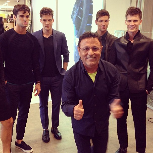 Elie Tahari was good to go before the show began. Source: Instagram user elietahari
