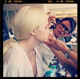 Oscar de la Renta's models got lovely before hitting the runway. Source: Instagram user oscarprgirl