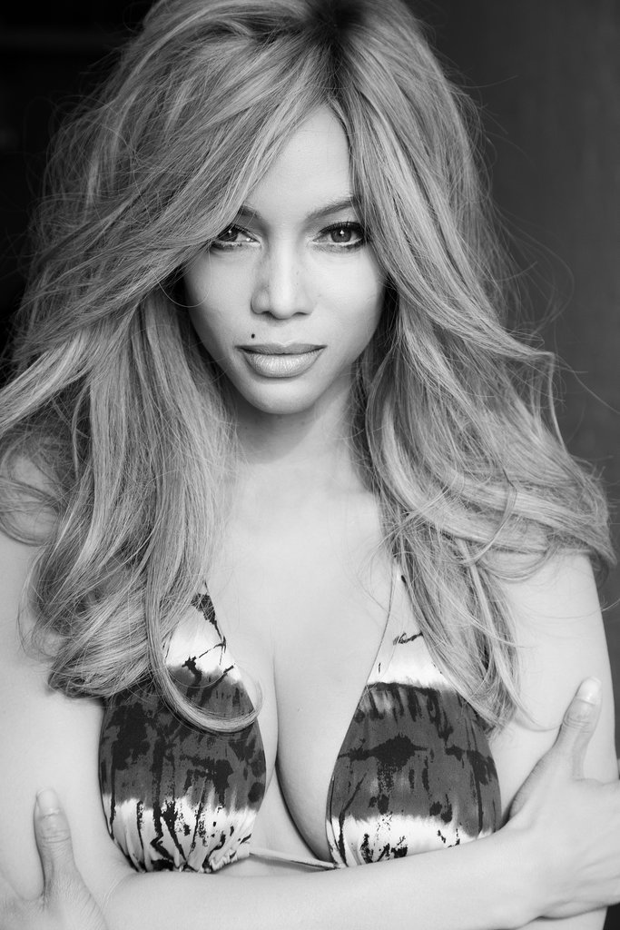Tyra Banks photographed by Udo Spreitzenbarth as Claudia Schiffer. Photo courtesy of Tyra Banks