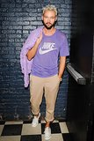Chris Benz was stylish in casual purple separates at The Last Magazine's Acme party.