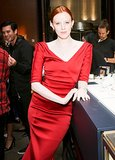 Karen Elson feted Tiffany & Co.'s Atlas Collection in a sizzling red hue.