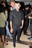 Nicola Formichetti kept to all black while at the AnOther Magazine party.
