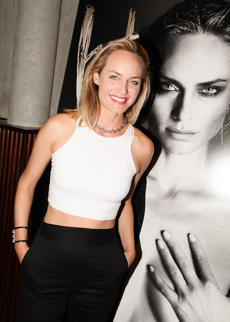 Amber Valletta hit the scene in black and white at Interview