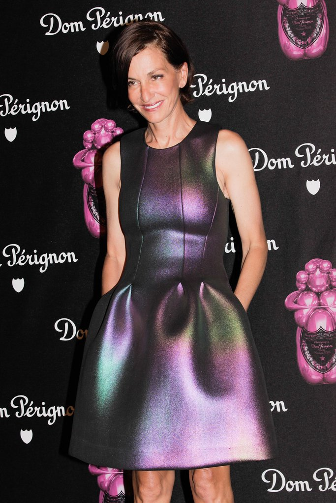 Cynthia Rowley was iridescent at the Jeff Koons Dom Pérignon soirée.