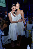 At The Novak Djokovic Foundation dinner, Candice Swanepoel and Karlie Kloss were all smiles in white.