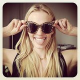 Anne V sported a chic pair of new Illesteva x Zac Posen shades. Source: Instagram user annev_official