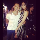 Ciara posed with designer Prabal Gurung backstage before his Spring 2014 runway show. Source: Instagram user ciara