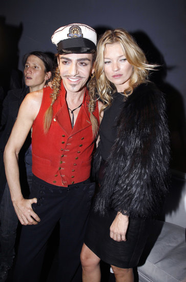John Galliano and Kate Moss