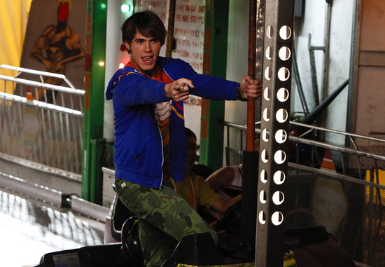 Ryder (Blake Jenner) performs at a carnival on Glee's season premiere.