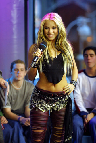 Shakira visited MTV's TRL studios in NYC in 2001.