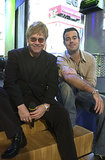 Elton John visited the show in 2001, chatting with Carson Daly at TRL's NYC studio.