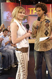 Kirsten Dunst visited TRL in NYC for a 2002 appearance.