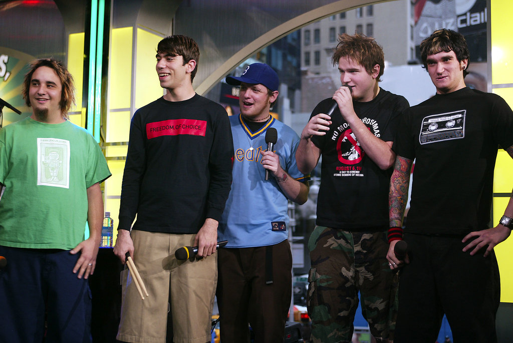New Found Glory performed on TRL in 2003.