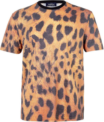 Cheetah Print Crew Neck T-Shirt
