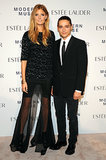 Constance Jablonski made an entrance in Theyskens' Theory's separates while attending the Modern Muse party with her ensemble's designer Olivier Theyskens.