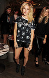 Ellie Goulding attended the Elle magazine party during London Fashion Week.