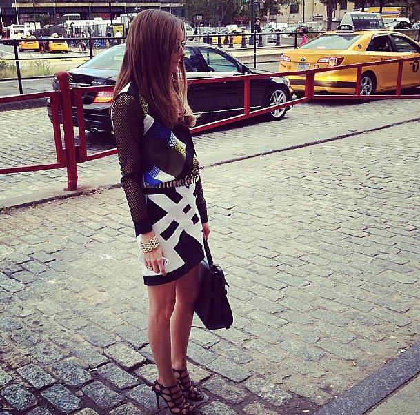 What would Fashion Week be without a run-in with Olivia Palermo?