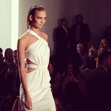 Karlie Kloss was a vision in white at Cushnie et Ochs.