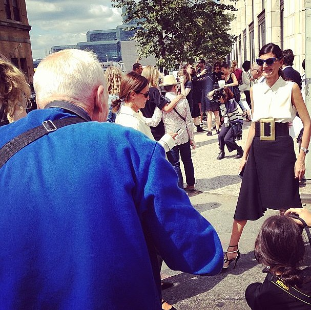 A perfect New York Fashion Week moment: Bill Cunningham doing what he does best.