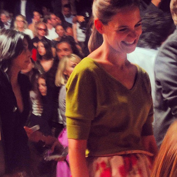 Katie Holmes worked her front row magic at Michael Kors. Source: Instagram user mbfashionweek