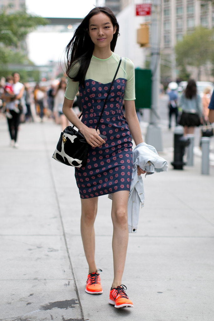 Some innovative styling reinvented this little dress.