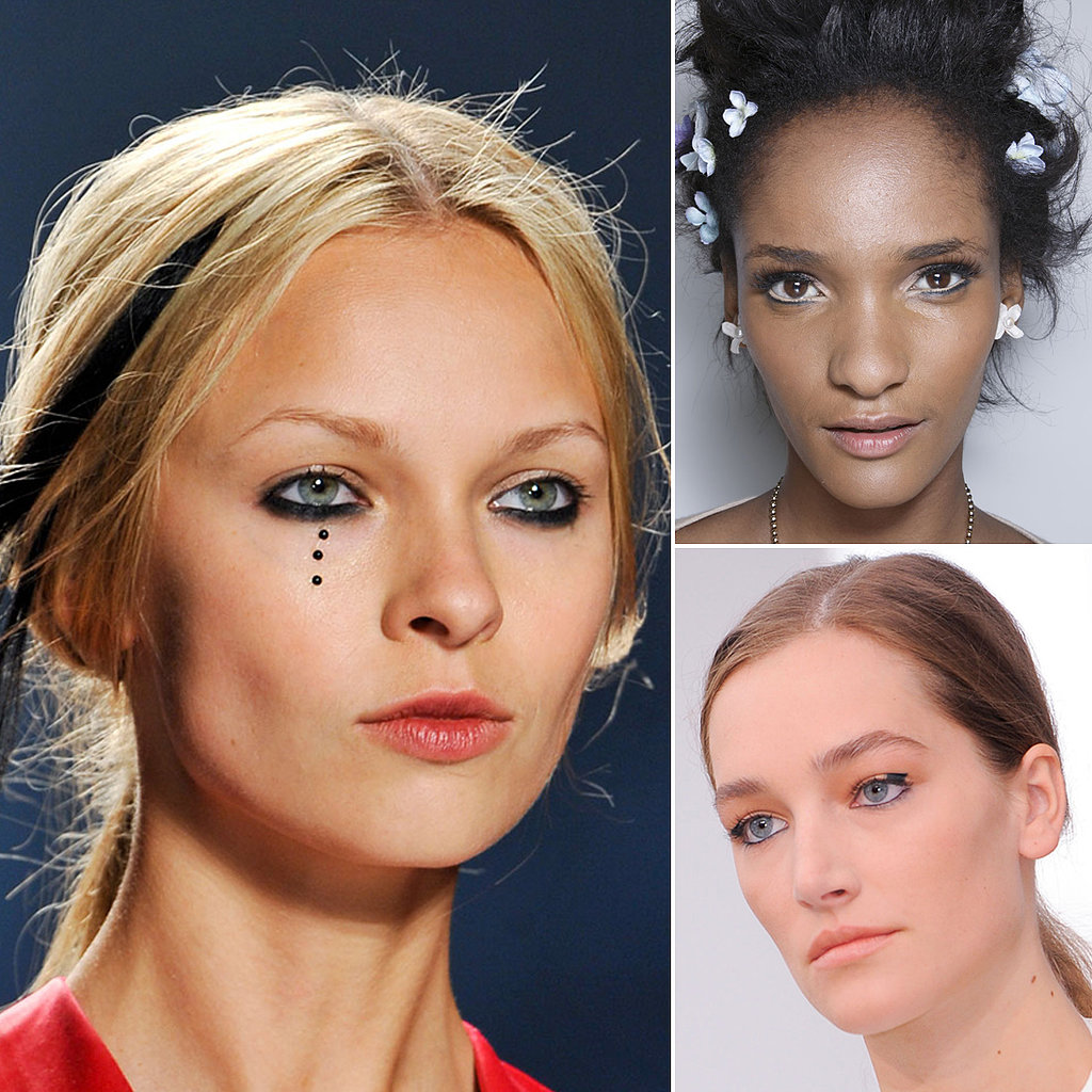 Graphic Content: Makeup Artists Get Crafty With Liner For Spring 2014