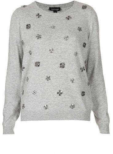 Knitted Embellished Jumper