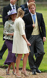 Prince Harry wore a suit for a friend's wedding in Gayton.