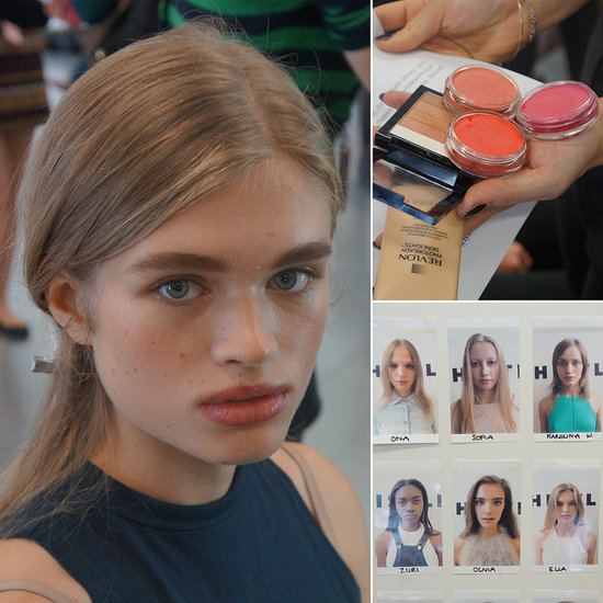 Backstage Beauty at Whistles Spring 2014