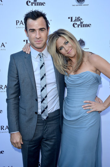 Jennifer Aniston and Justin Theroux attended a cocktail party for her new film Life of Crime in Toronto.