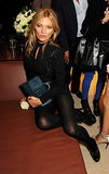 Kate Moss struck a pose at the Longchamp store launch party.