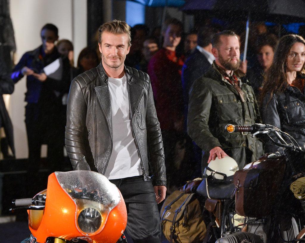 David Beckham at the launch of Belstaff House Photo courtesy of Belstaff