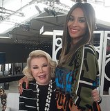 Joan Rivers and Ciara (just barely) fit into frame. Source: Instagram user joanrivers