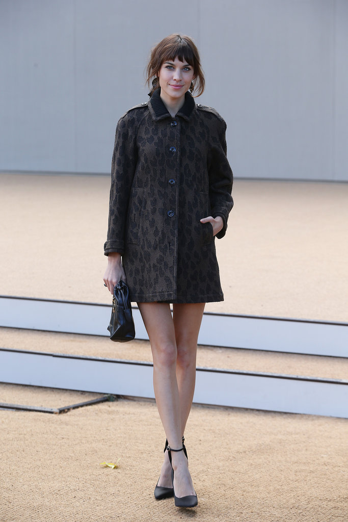 Alexa Chung put her long legs on display.