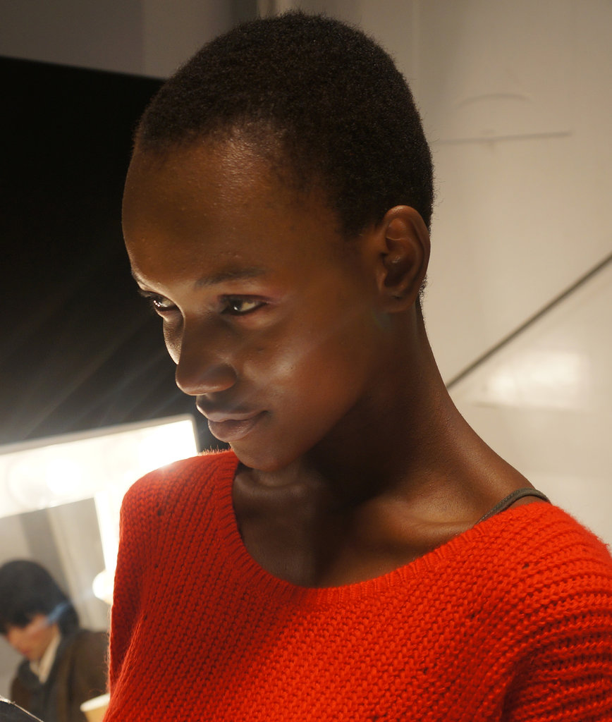 Backstage beauty at Burberry Prorsum Spring 2014.
