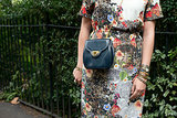 A vintage bag was a perfect complement to a pretty dress.