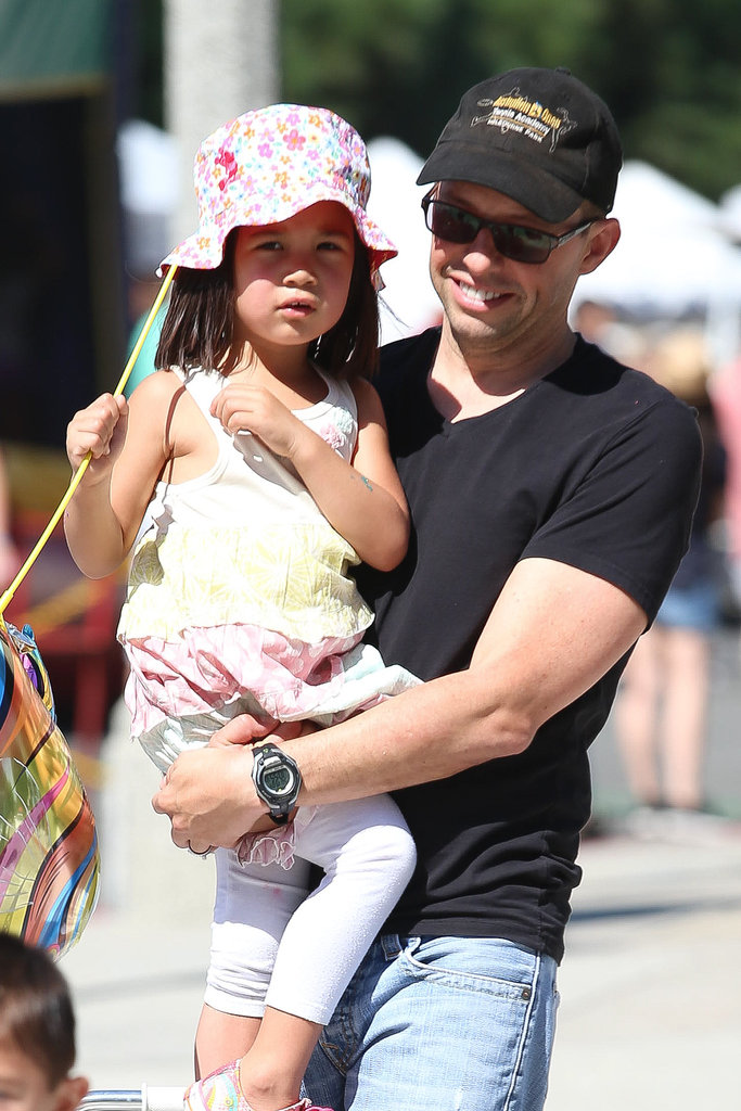 Jon Cryer spent his day at an LA farmers market with his family.